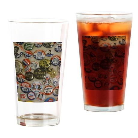 Vote 4 Me Drinking Glass