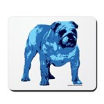 Blue Bulldog Mousepad