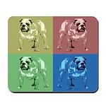 4 Color Bulldog Mousepad