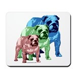 3 Color Bulldog Mousepad
