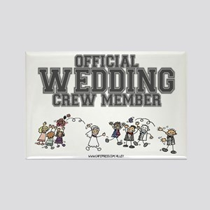 Official Wedding Crew Rectangle Magnet