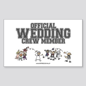 Official Wedding Crew Rectangle Sticker