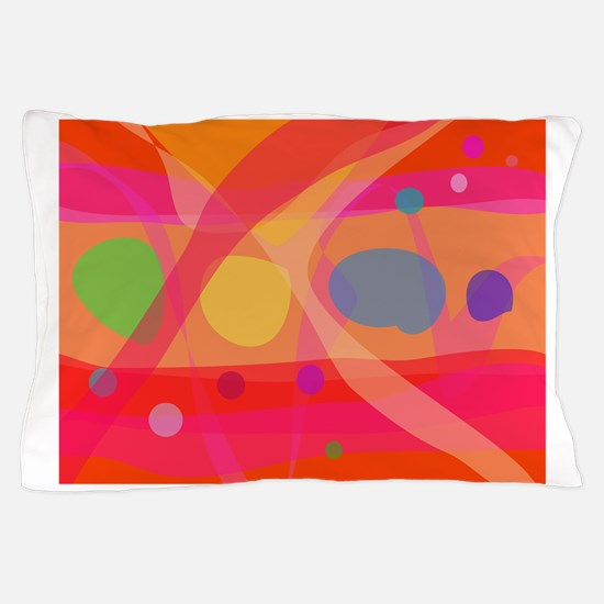 Bubbles Orange Pillow Case