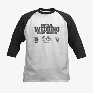 Official Wedding Crew Kids Baseball Jersey