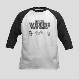 Official Wedding Crew Kids Baseball Jersey