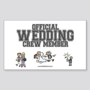Official Wedding Crew Rectangle Sticker