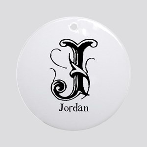 Jordan: Fancy Monogram Ornament (Round)