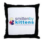 Smitten By Kittens Throw Pillow
