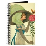 Victorian Woman with Rose Journal