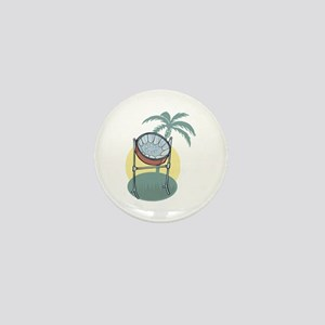 Steel Drum and Palm Tree Mini Button