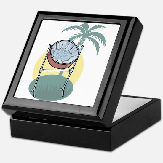 Steel Drum and Palm Tree Keepsake Box