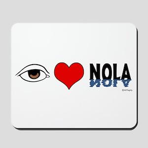 Eye Love NOLA (brown) Mousepad