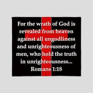 Romans 1-18 Throw Blanket
