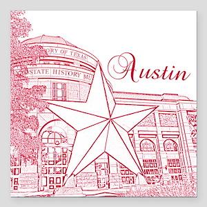 "Austin Square Car Magnet 3"" x 3"""