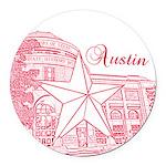 Austin Round Car Magnet