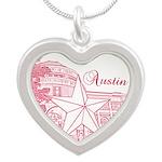 Austin Silver Heart Necklace