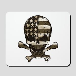 Flag-painted-Skull-Sepia Mousepad