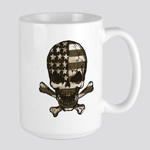 Flag-painted-Skull-Sepia Mug