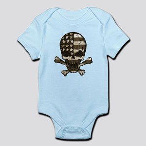 Flag-painted-Skull-Sepia Body Suit