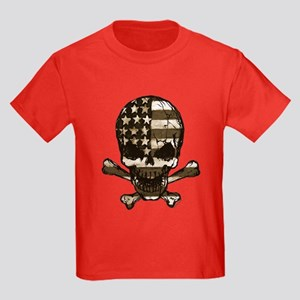 Flag-painted-Skull-Sepia T-Shirt