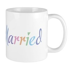 Rainbow Amore Just Married Mug