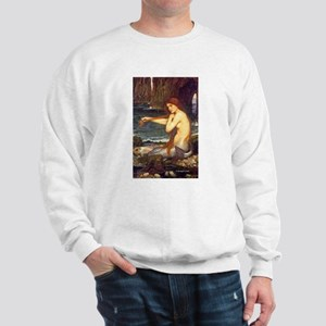 MERMAID painting Waterhouse art Sweatshirt