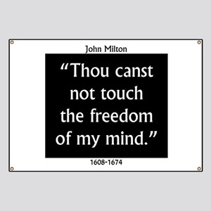Thou Canst Not Touch - Milton Banner