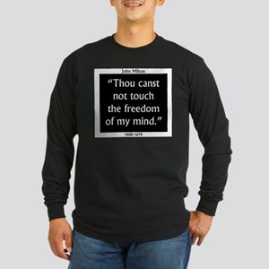 Thou Canst Not Touch - Milton Long Sleeve Dark T-S