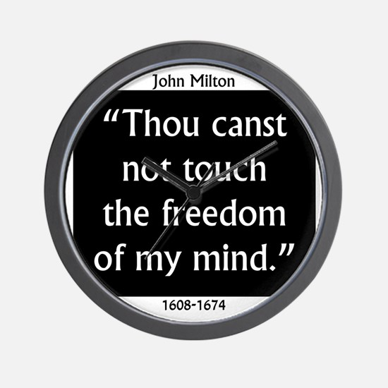 Thou Canst Not Touch - Milton Wall Clock