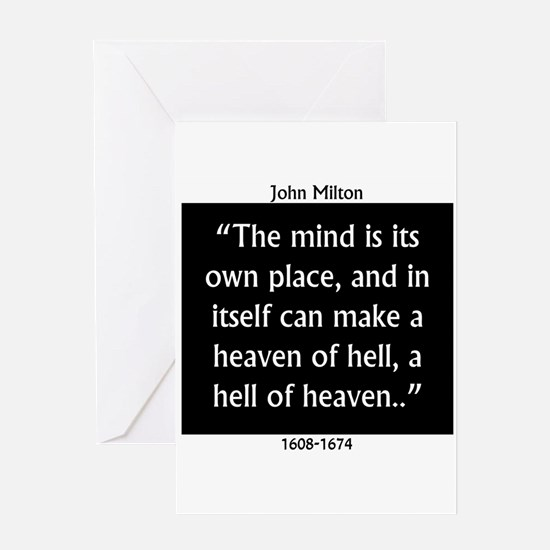 The Mind Is Its Own Place - John Milton Greeting C