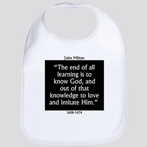The End Of All Learning - Milton Cotton Baby Bib