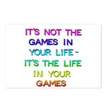 It's Not The Games Postcards (package Of 8)
