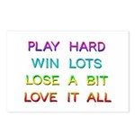 Play Hard Postcards (package Of 8)