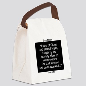 I Sung Of Chaos - Milton Canvas Lunch Bag