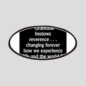 Gratitude Bestows Reverence - Milton Patch