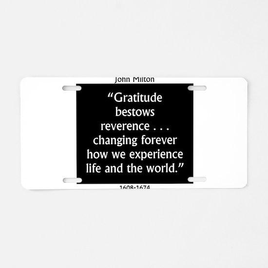 Gratitude Bestows Reverence - Milton Aluminum Lice