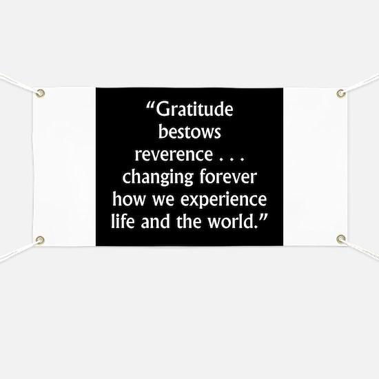 Gratitude Bestows Reverence - Milton Banner