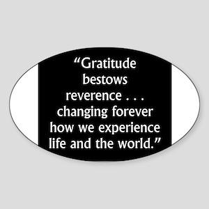 Gratitude Bestows Reverence - Milton Sticker (Oval