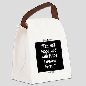 Farewell Hope - Milton Canvas Lunch Bag
