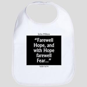 Farewell Hope - Milton Cotton Baby Bib