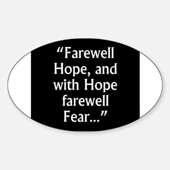 Farewell Hope - Milton Sticker (Oval)