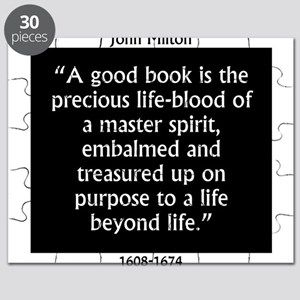A Good Book Is The Precious Life Blood Puzzle