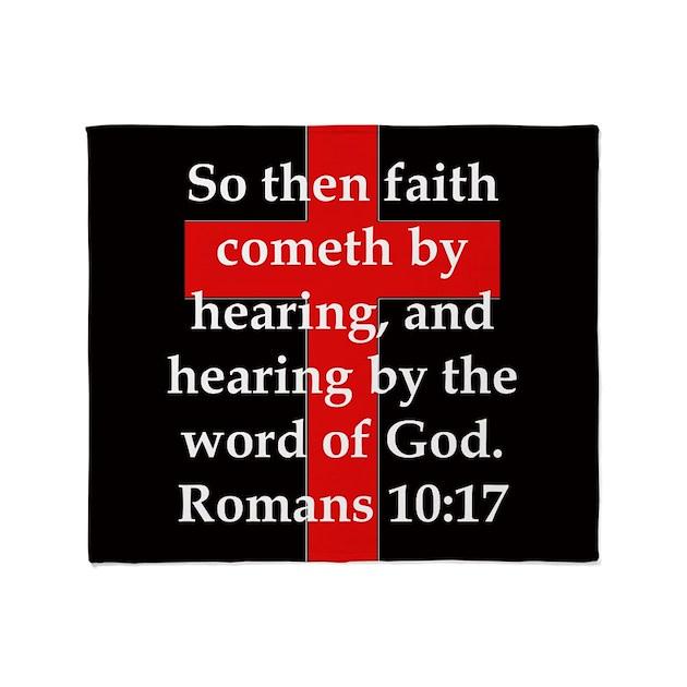 Romans 10-17 Throw Blanket By CrankyOldDudesBestBibleVerses2