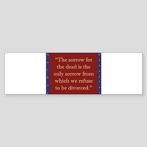 The Sorrow For The Dead - W Irving Sticker (Bumper