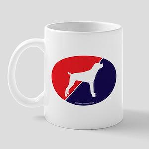 US Flag Mountain Cur Mug
