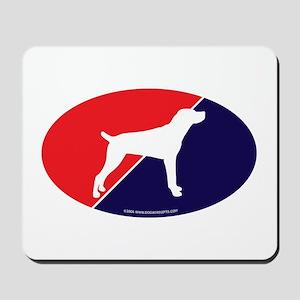 US Flag Mountain Cur Mousepad