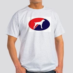 US Flag Mountain Cur Ash Grey T-Shirt