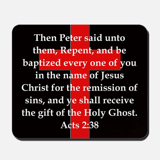 Acts 2-38 Mousepad