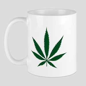 Marijuana Leaf Green Mug
