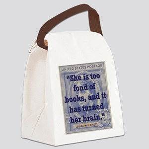 She Is Too Fond Of Books - Alcott Canvas Lunch Bag